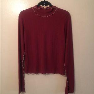 Zara Collection Scalloped Sleeve Top